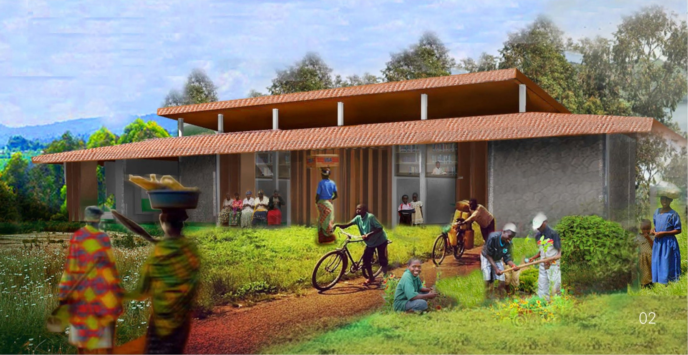 RWANDA: Sunzu Village library, designed by Andrew Goodwin