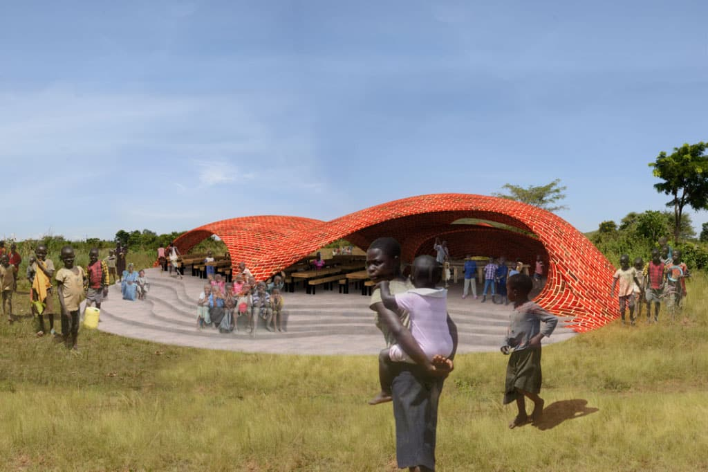 UGANDA: Espace community center, designed by Cameron Hempstead
