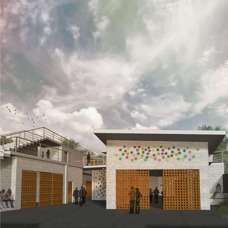 PHILIPPINES: community center, designed by Carly Althoff