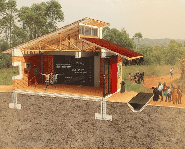 UGANDA:  Business and Training Center, designed by Jessica Labac