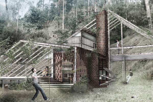 RWANDA: backpacker hut designed by Vana Kevorkian, Erin Dupree, and Faith Johnson